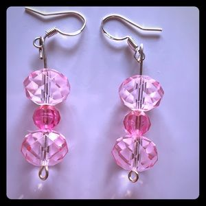 Jewelry - One Of A Kind Handmade Glass Earrings P1014